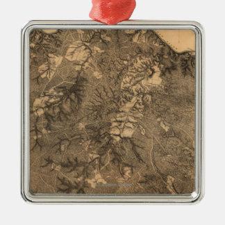 Battle of the Wilderness - Civil War Panoramic Metal Ornament