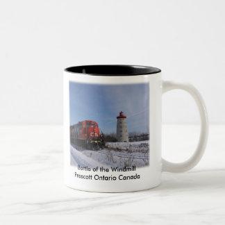 Battle of the Windmill - Prescott Ontario Canada Two-Tone Coffee Mug