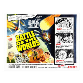 """Battle of the Worlds"" Postcard"