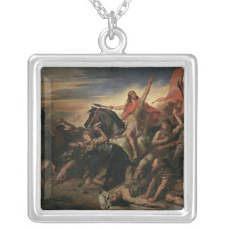 Battle of Tolbiac in AD 496, 1837 Silver Plated Necklace