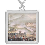 Battle of Toulouse, engraved Thomas Sutherland Square Pendant Necklace