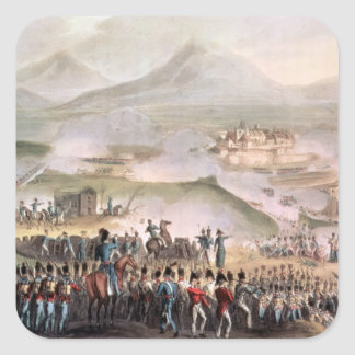 Battle of Toulouse, engraved Thomas Sutherland Square Sticker