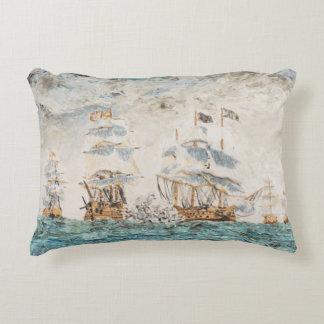Battle of Trafalgar 1805 1998 Accent Pillow