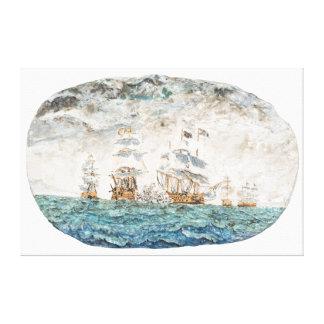 Battle of Trafalgar 1805 1998 Canvas Print