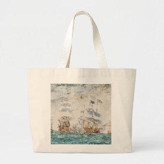 Battle of Trafalgar 1805 1998 Large Tote Bag
