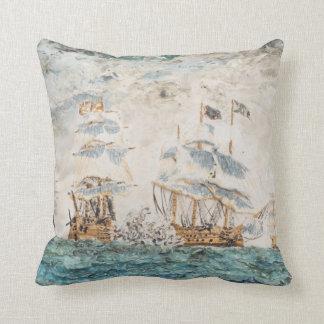 Battle of Trafalgar 1805 1998 Throw Pillow