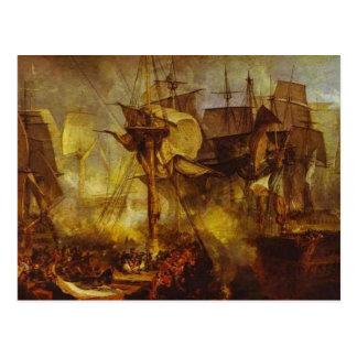 Battle of Trafalgar 1808 Postcard