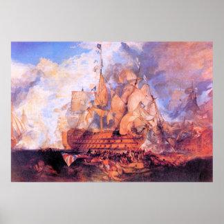 Battle of Trafalgar 2 by Joseph Mallord Turner Poster