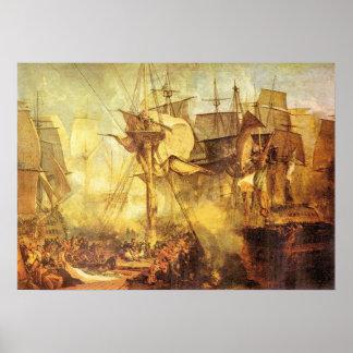 Battle of Trafalgar by Joseph Mallord Turner Poster