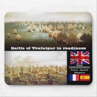 Battle of Trafalgar in readiness Mouse Pads