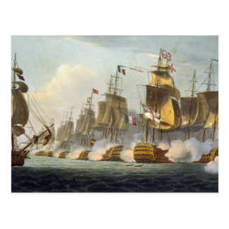 Battle of Trafalgar, October 21st 1805, from 'The Postcard