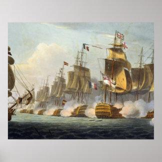 Battle of Trafalgar, October 21st 1805, from 'The Poster