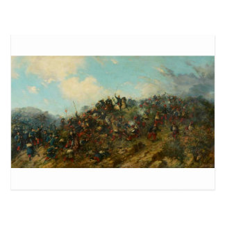 Battle of Treviño by Francisco Oller Postcard
