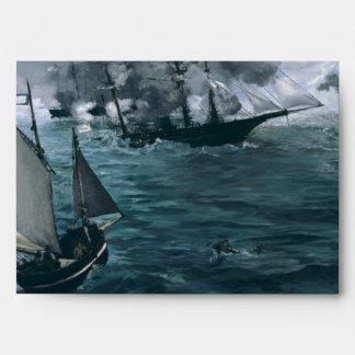 Battle of USS Kearsarge and CSS Alabama by Manet Envelope