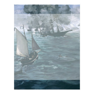 Battle of USS Kearsarge and CSS Alabama by Manet Flyer