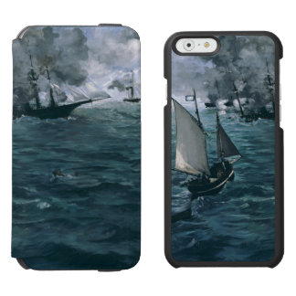 Battle of USS Kearsarge and CSS Alabama by Manet iPhone 6/6s Wallet Case