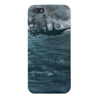 Battle of USS Kearsarge and CSS Alabama by Manet Covers For iPhone 5