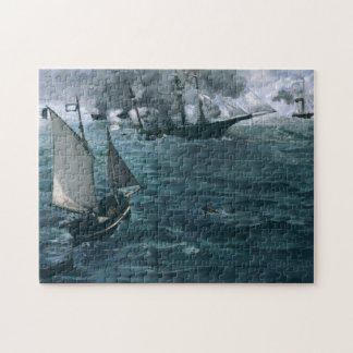 Battle of USS Kearsarge and CSS Alabama by Manet Jigsaw Puzzle