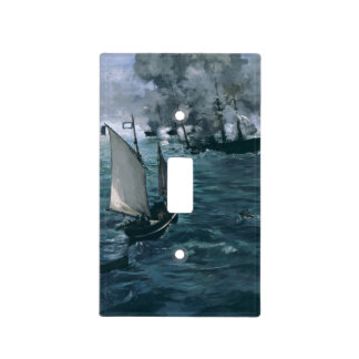 Battle of USS Kearsarge and CSS Alabama by Manet Light Switch Plates