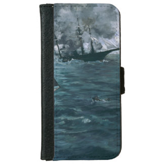 Battle of USS Kearsarge and CSS Alabama by Manet iPhone 6 Wallet Case