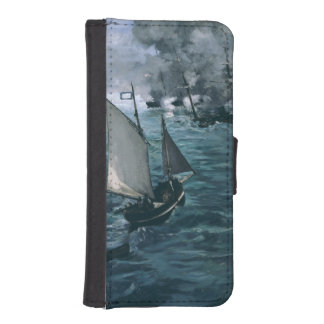 Battle of USS Kearsarge and CSS Alabama by Manet iPhone 5 Wallet Case