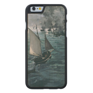 Battle of USS Kearsarge and CSS Alabama by Manet Carved® Maple iPhone 6 Slim Case