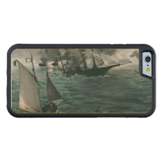 Battle of USS Kearsarge and CSS Alabama by Manet Carved® Maple iPhone 6 Bumper Case
