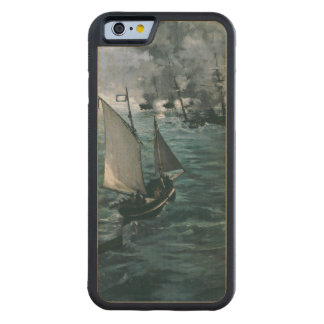 Battle of USS Kearsarge and CSS Alabama by Manet Carved® Maple iPhone 6 Bumper