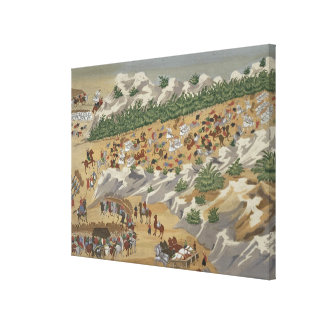 Battle of Vasilika in 1821, from the Pictorial His Canvas Print