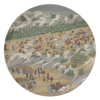 Battle of Vasilika in 1821, from the Pictorial His Melamine Plate