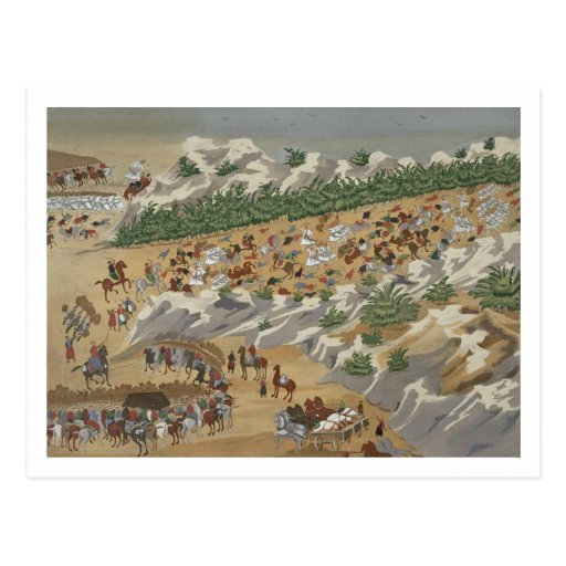 Battle of Vasilika in 1821, from the Pictorial His Postcard