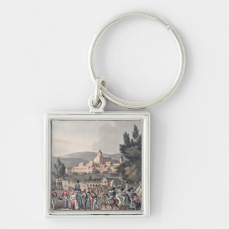 Battle of Vittoria,Bringing in the Prisoners Silver-Colored Square Keychain
