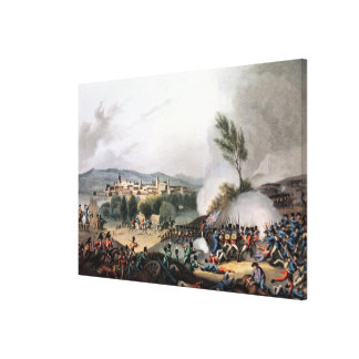 Battle of Vittoria,etched by I. Clark Canvas Print