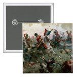 Battle of Waterloo, 18th June 1815, 1898 (colour l 2 Inch Square Button
