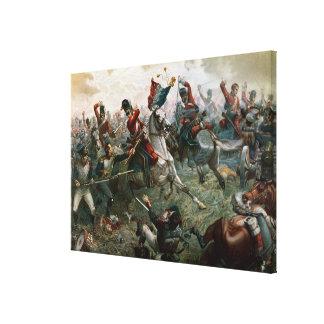 Battle of Waterloo, 18th June 1815, 1898 (colour l Canvas Print