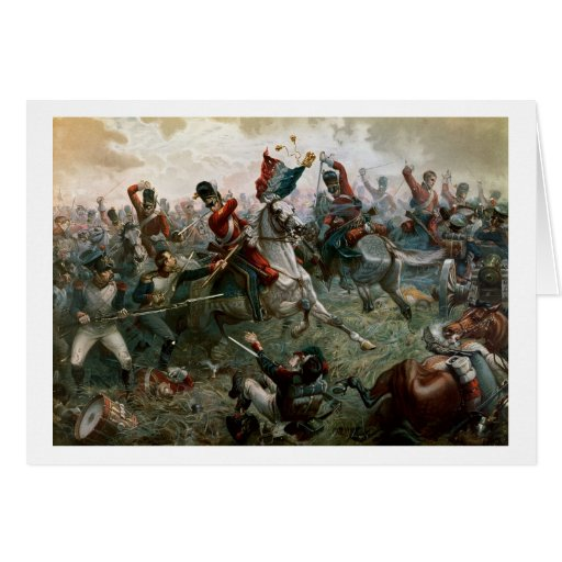 Battle of Waterloo, 18th June 1815, 1898 (colour l Greeting Card