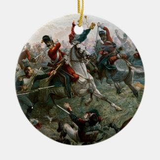 Battle of Waterloo, 18th June 1815, 1898 (colour l Ceramic Ornament