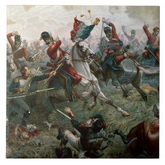 Battle of Waterloo, 18th June 1815, 1898 (colour l Ceramic Tile