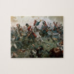 "Battle of Waterloo, 18th June 1815, 1898 (colour l Jigsaw Puzzle<br><div class=""desc"">Image:116877  Battle of Waterloo,  18th June 1815,  1898 (colour litho). Sullivan,  William Holmes (fl.1870-d.1908). Private Collection.  Art,  Fine Art.</div>"