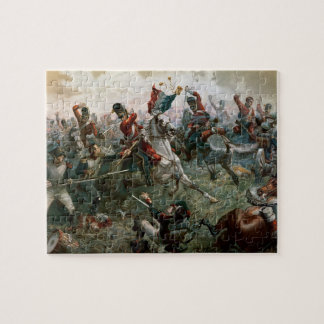 Battle of Waterloo, 18th June 1815, 1898 (colour l Jigsaw Puzzle