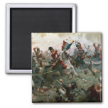 Battle of Waterloo, 18th June 1815, 1898 (colour l 2 Inch Square Magnet
