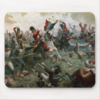Battle of Waterloo, 18th June 1815, 1898 (colour l Mouse Pad