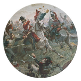 Battle of Waterloo, 18th June 1815, 1898 (colour l Plate