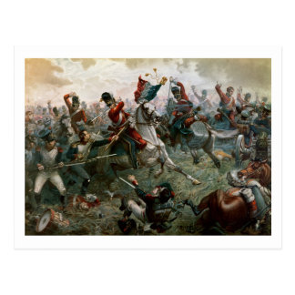 Battle of Waterloo, 18th June 1815, 1898 (colour l Postcard