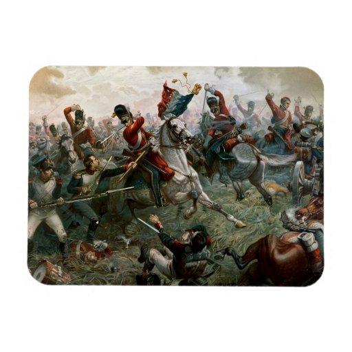 Battle of Waterloo, 18th June 1815, 1898 (colour l Rectangular Photo Magnet