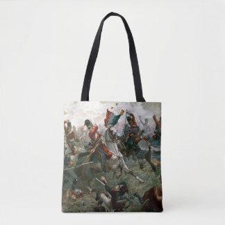 Battle of Waterloo, 18th June 1815, 1898 (colour l Tote Bag