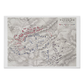 Battle of Waterloo, 18th June 1815, Sheet 2nd, Cri Poster