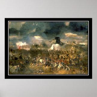 Battle of Waterloo Vintage Poster Posters