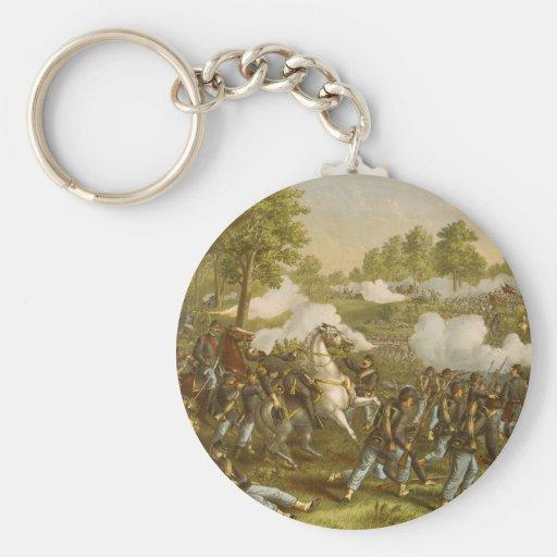 Battle of Wilson's Creek. Aug. 10, 1861 Basic Round Button Keychain