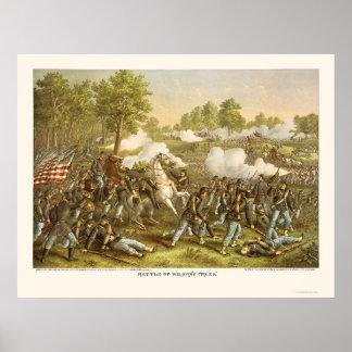 Battle of Wilson's Creek by Kurz and Allison 1861 Poster